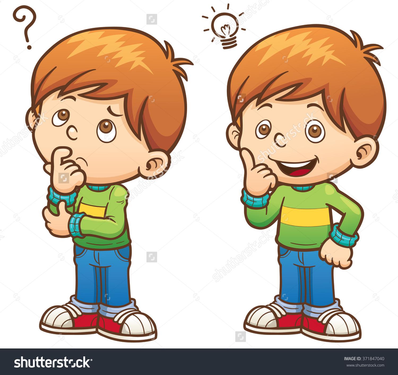 48+ Child Thinking Clipart.