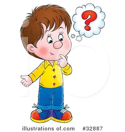 Children Thinking Clipart.