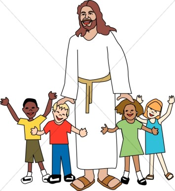 Jesus With Child Clipart.