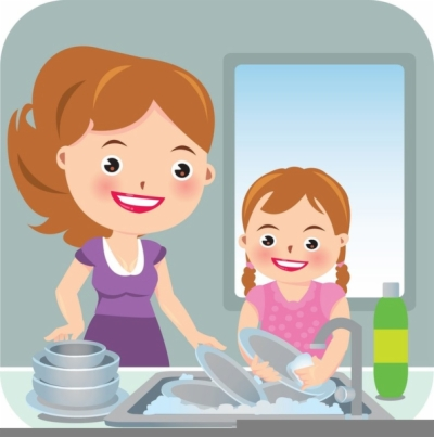wash dishes , Free clipart download.