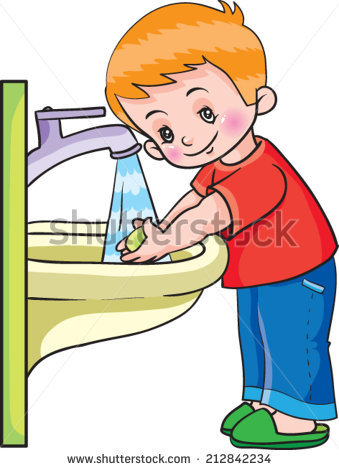 Boy Washing Hands Stock Images, Royalty.
