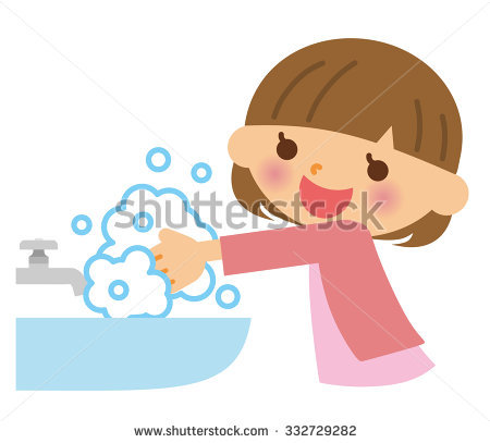 Child Washing Hands Stock Images, Royalty.