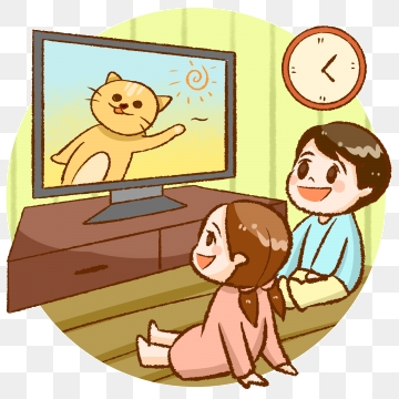 Watching Tv Png, Vector, PSD, and Clipart With Transparent.
