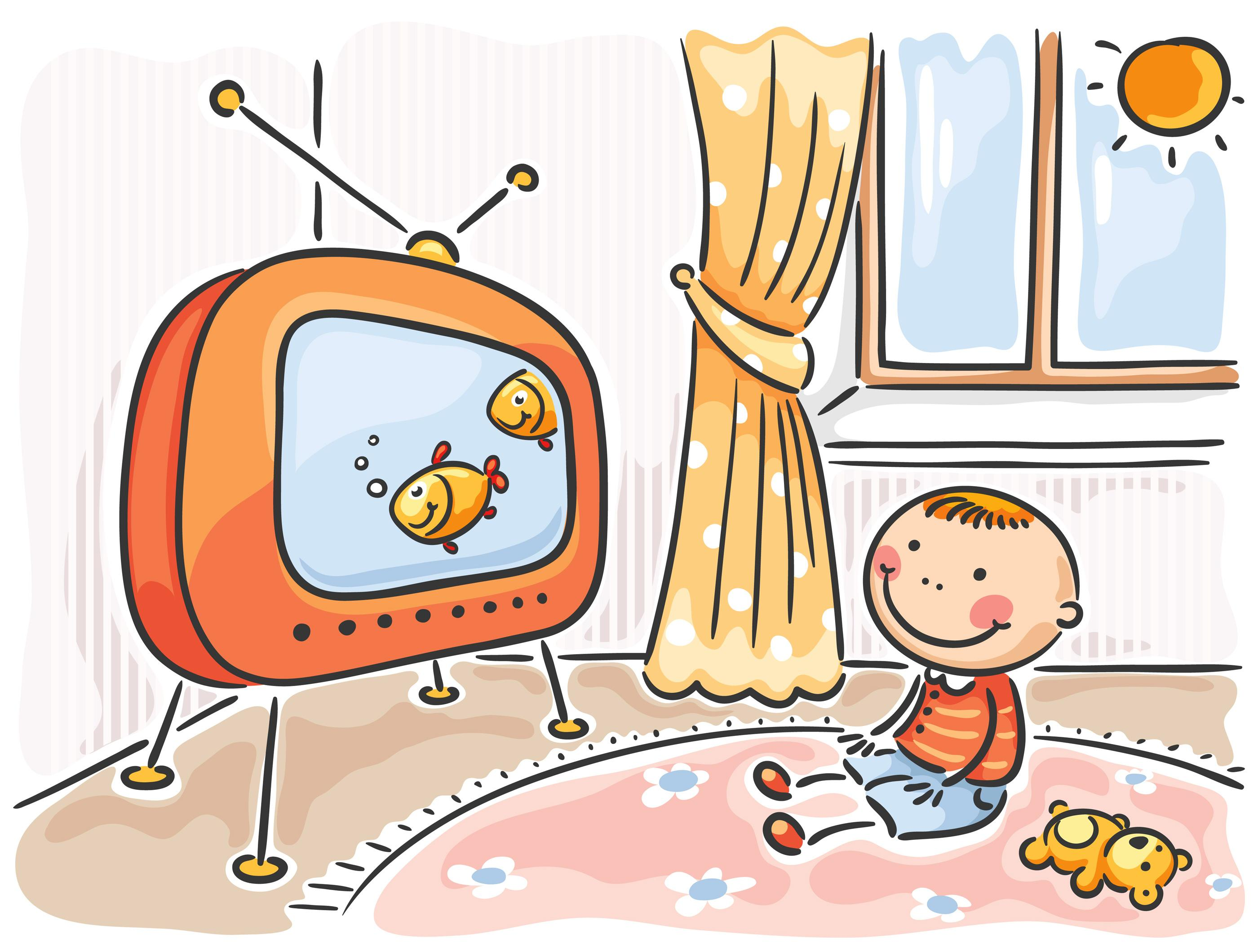 45+ Child Watching tv Clipart.