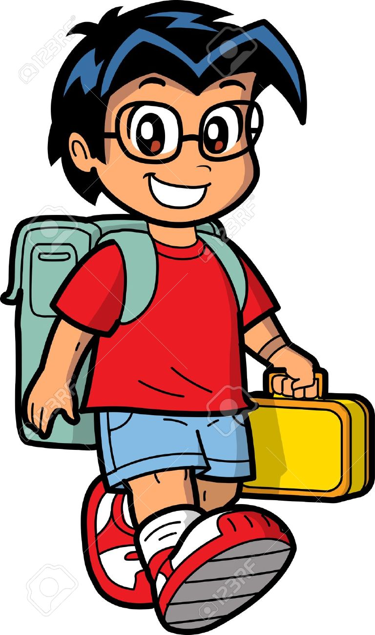 Child Wearing Bookbag Clipart Clipground