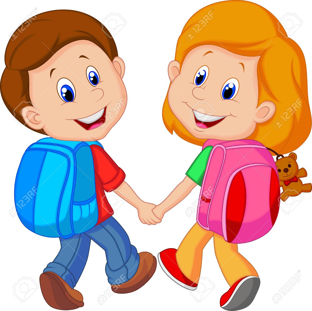 Showing post & media for People wearing backpacks cartoon.