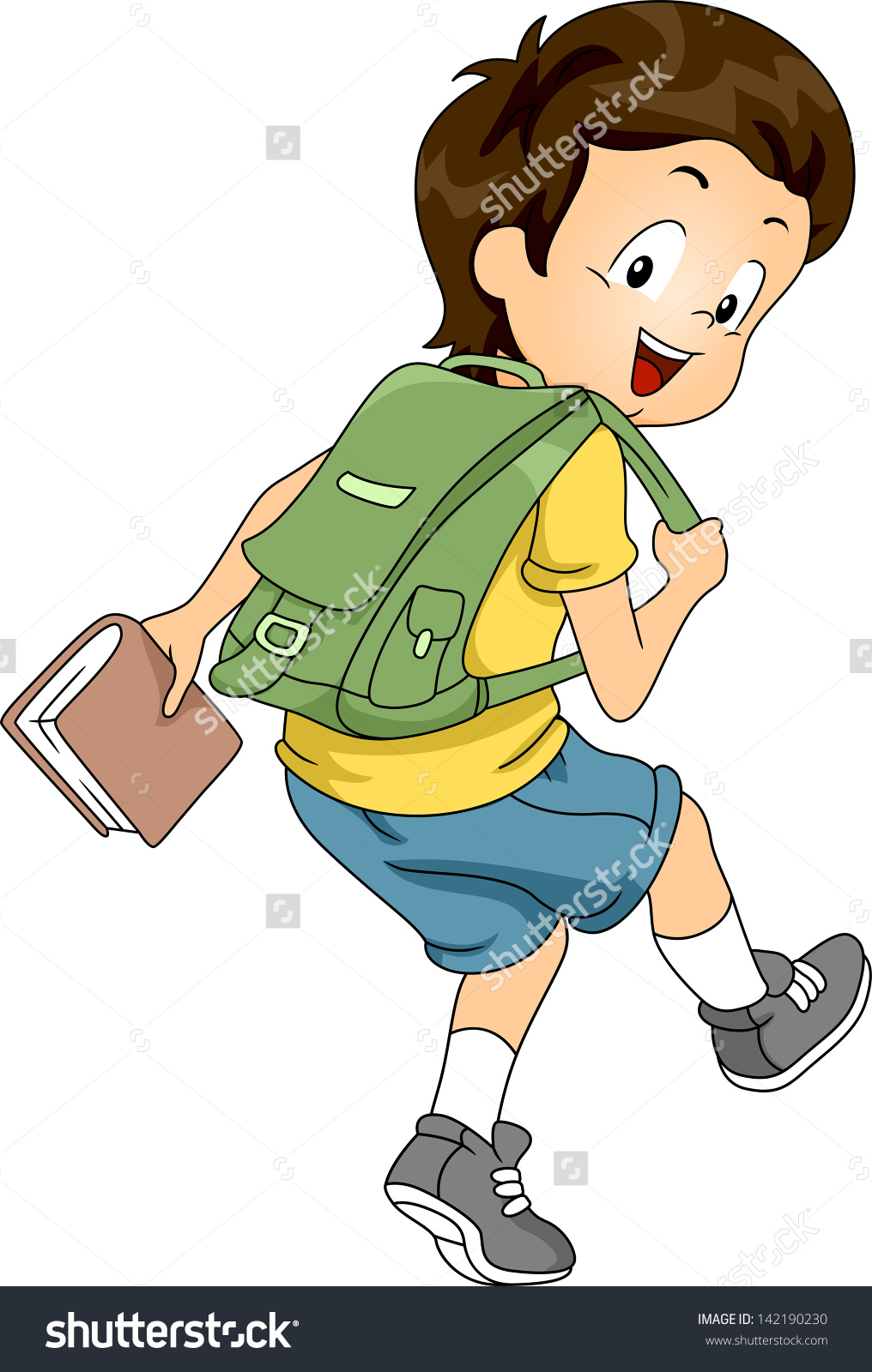 Showing post & media for Cartoon wearing backpack.
