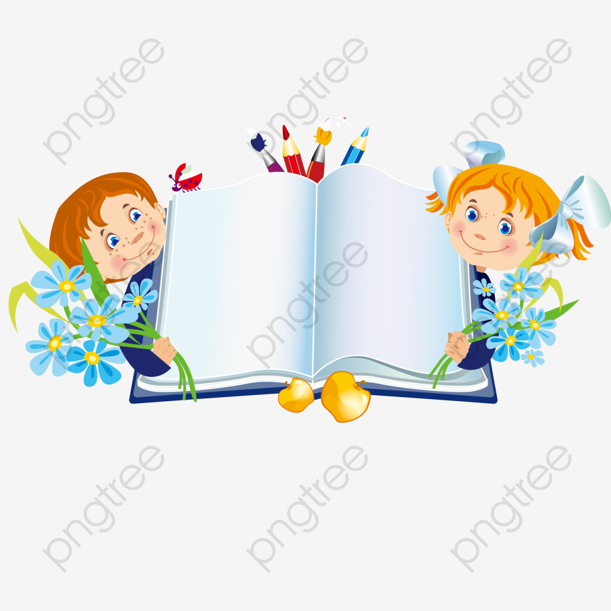 Holding The Book Of Children, Book Clipart, Children Clipart, Book.