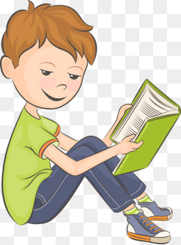 Child Reading A Book Clipart 11.