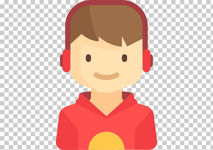 User profile musical.ly Icon, Child with headphones PNG.