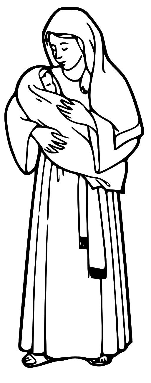 Jesus Clipart For Kids Black And White.