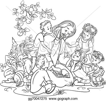child with jesus clipart black and white Clipground