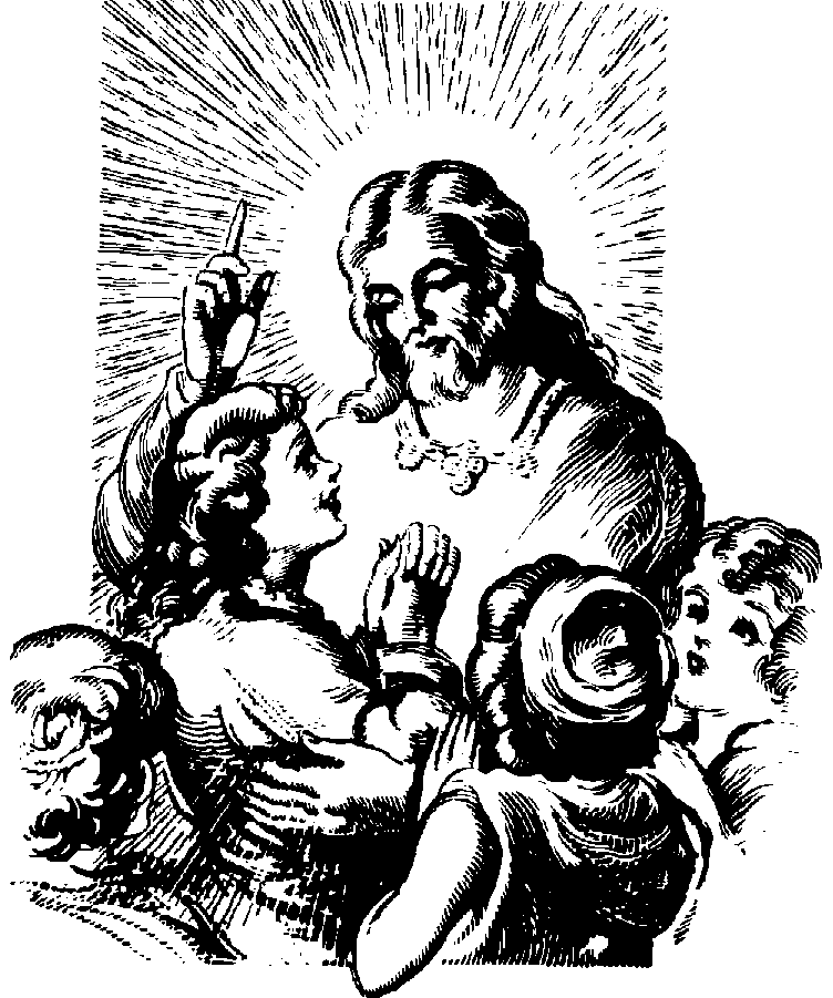 Child With Jesus Clipart Black And White.