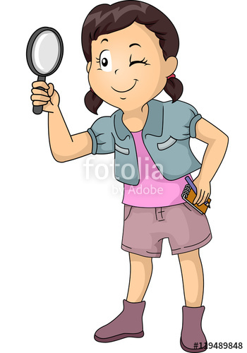 Kid Girl Magnifying Glass Notes\