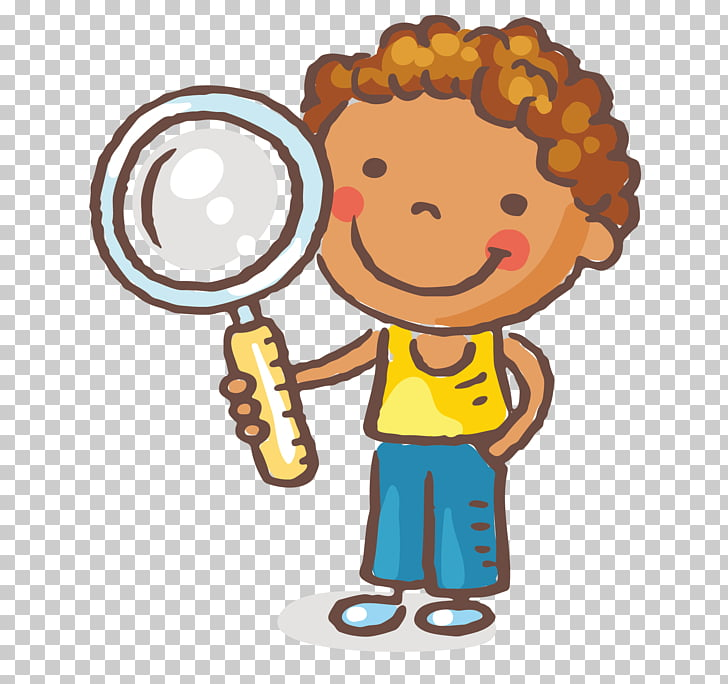 Magnifying glass Child , Take the magnifying glass of the.