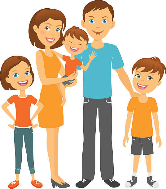 Child And Parents Clipart.