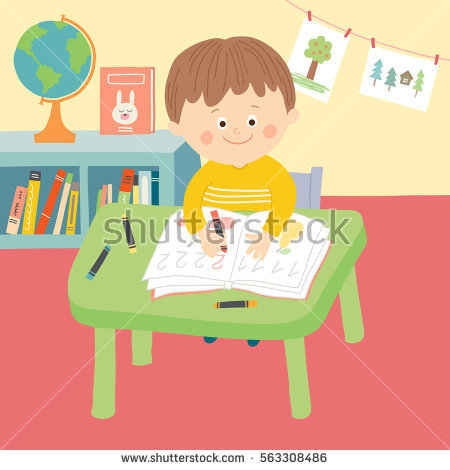 Child Writing Stock Images, Royalty.