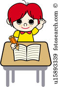 Child writing Clip Art Illustrations. 5,266 child writing clipart.