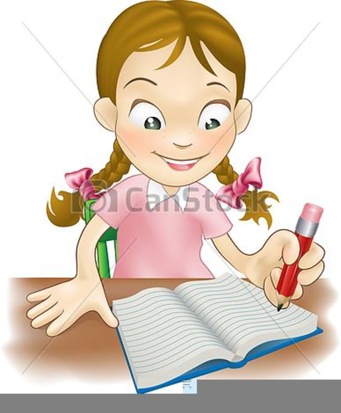 Child Writing Clipart 7.