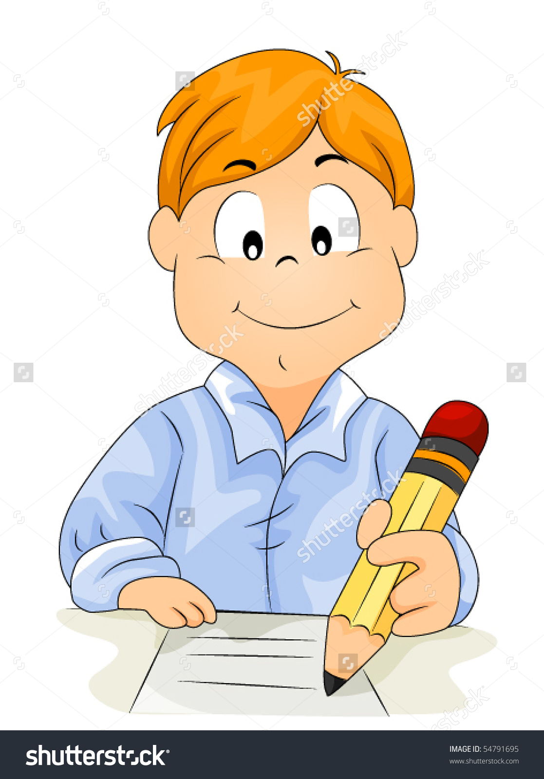 64+ Child Writing Clipart.