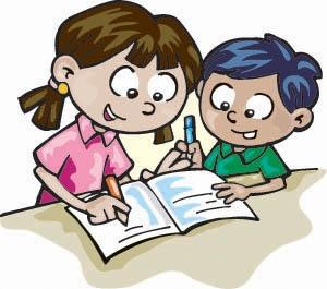 Children Writing Clipart.