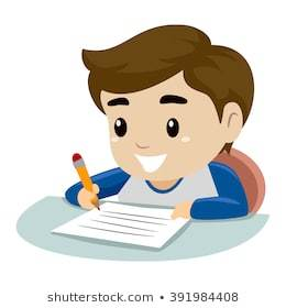 Clipart child writing 1 » Clipart Portal.