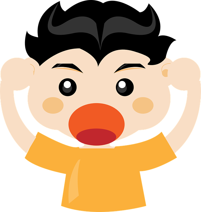 Free vector graphic: Angry, Anger, Frustration, Boy.