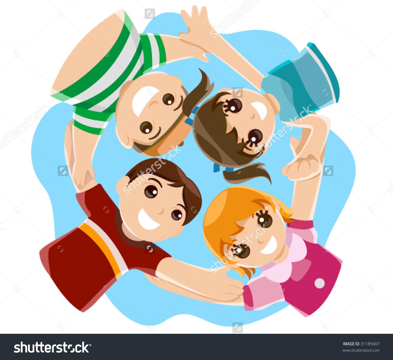Childhood Friends Vector Stock Vector 31185607.