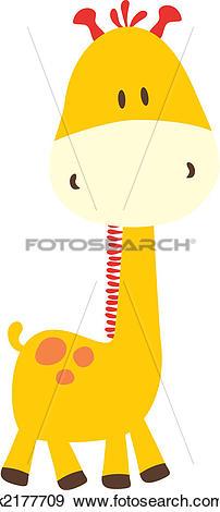 Clip Art of childish giraffe k2177709.
