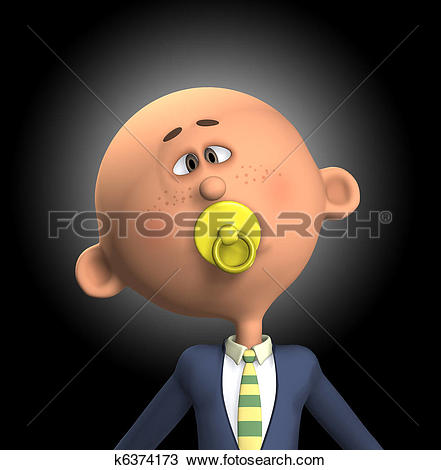 Drawing of Childish Businessman k6374173.