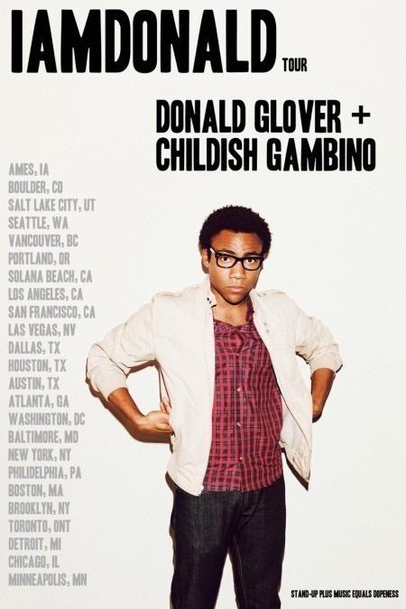IAMDONALD TOUR: Donald Glover + Childish Gambino.