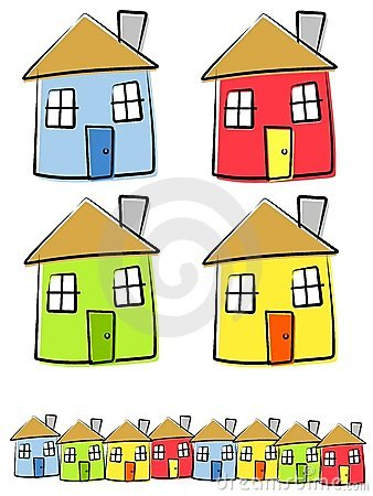 Childlike House Home Clip Art Stock Photos.