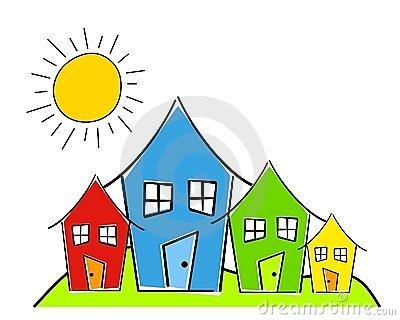 Childlike House Home Clip Art Stock Photos.