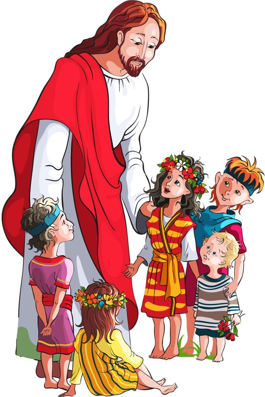 Jesus And Kids Clipart.