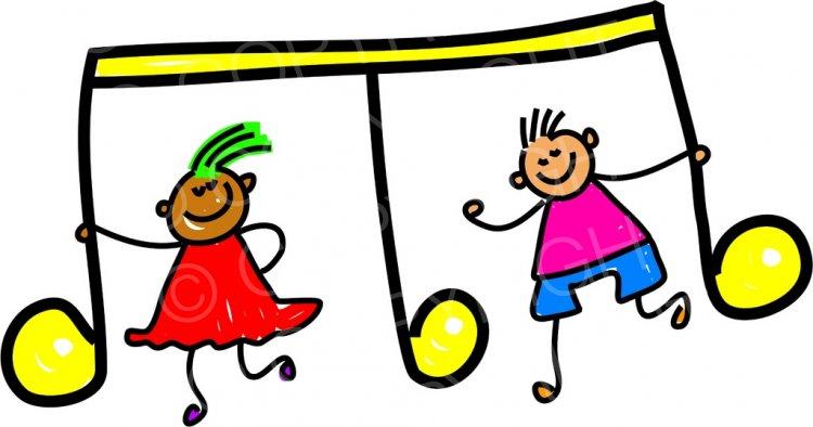 Happy Cartoon Music Children Toddler Art Prawny Clip Art.