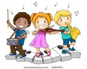 free clipart of children playing music.