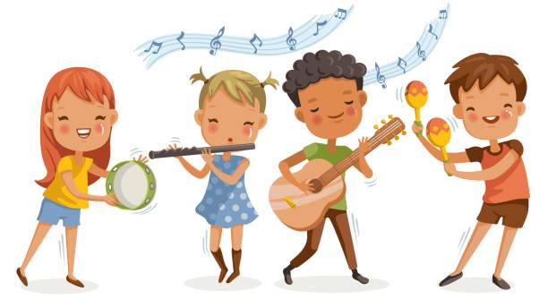 Best Children Music Illustrations, Royalty.