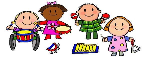 Cartoon Kids Music Clip Art.