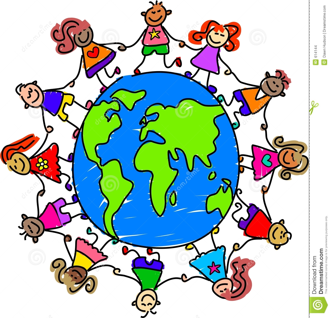 Children Around The World Clipart.
