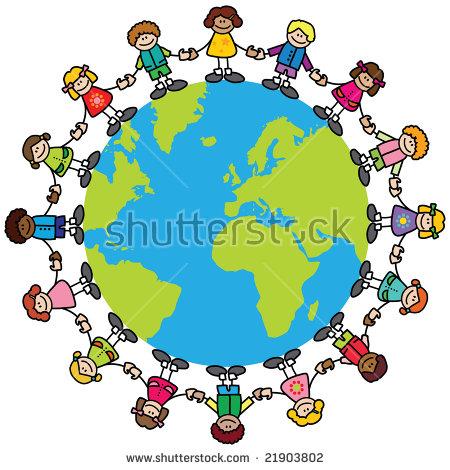 children and world clipart #7