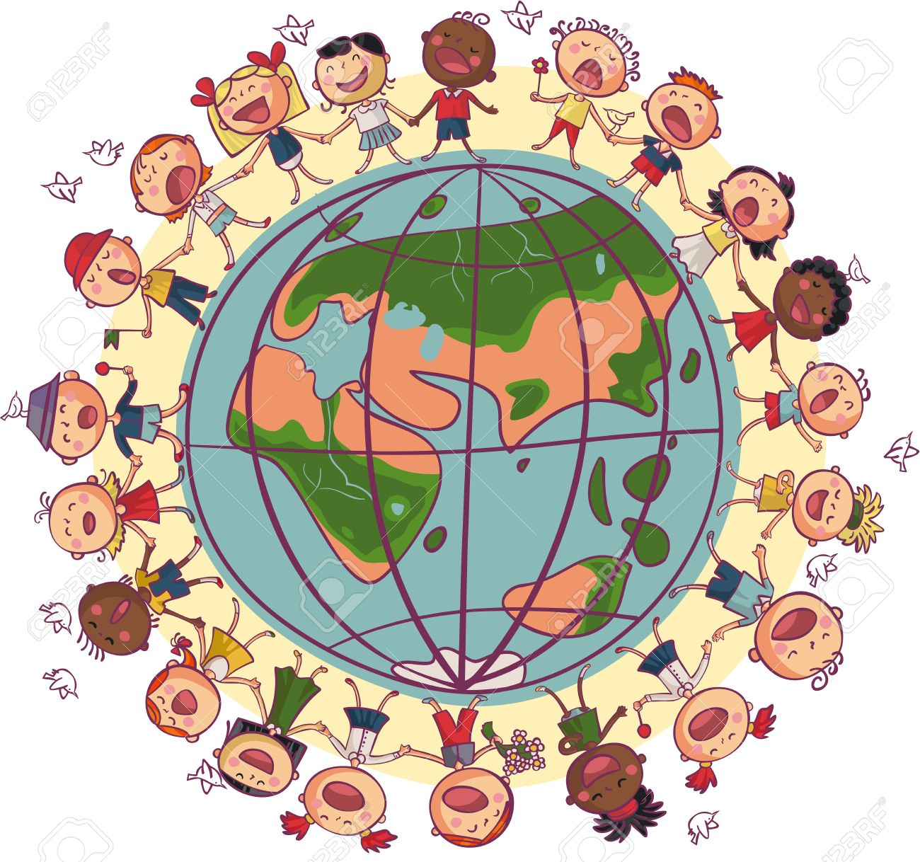 12,382 Children World Cliparts, Stock Vector And Royalty Free.