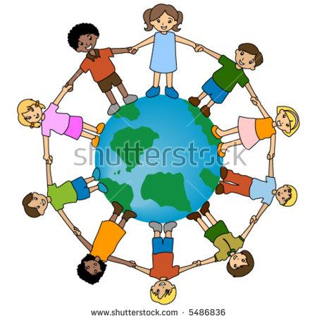 Children Around World Kids Around World Stock Vector 372535903.
