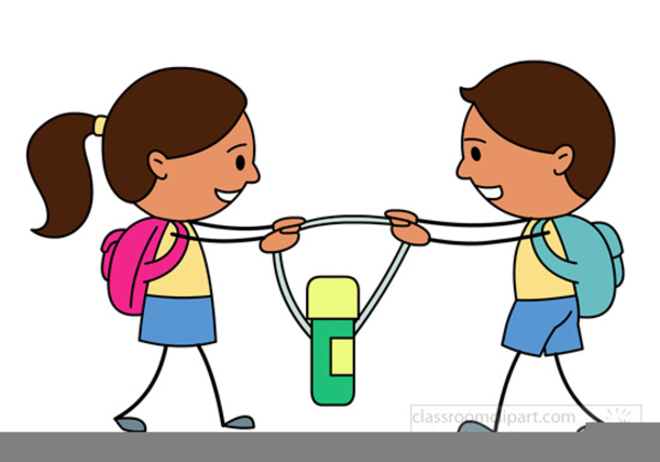 Children Arguing Clipart.
