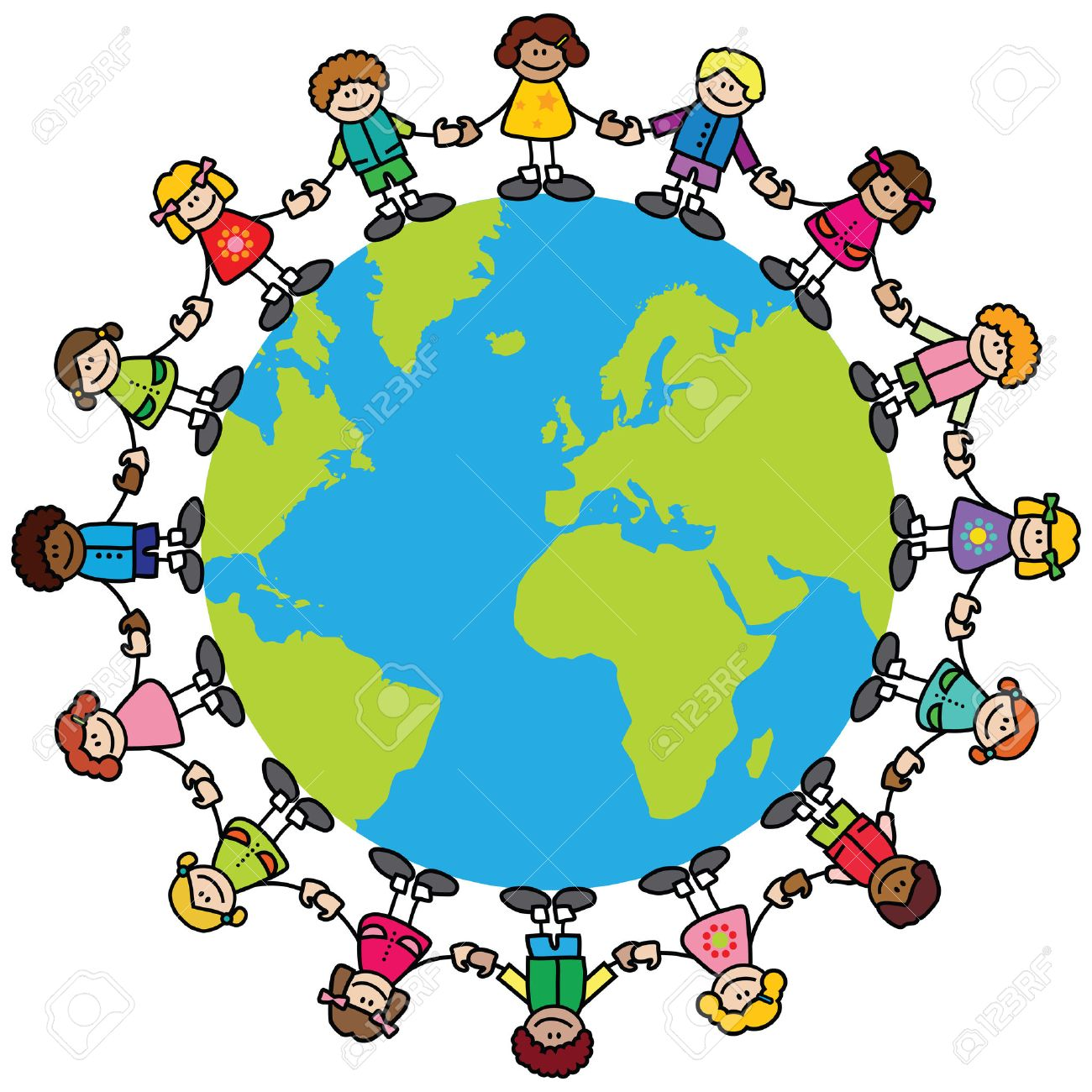 Children around the world clipart 4 » Clipart Station.
