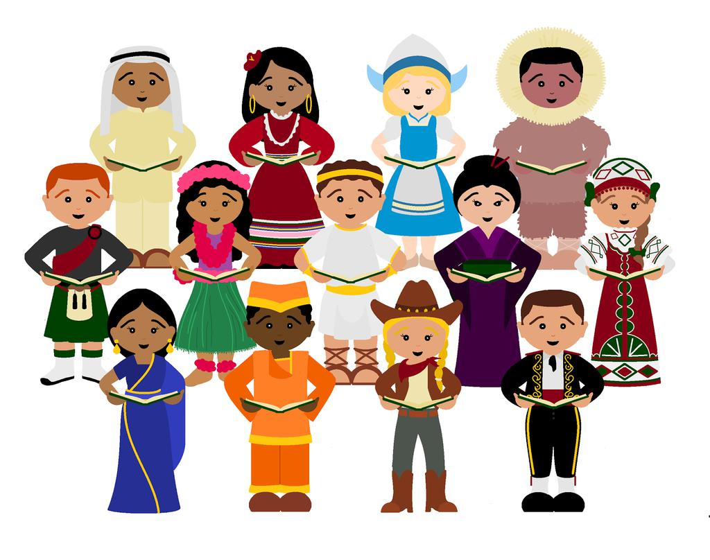 Printable Children Around The World Clipart Piodbaget.