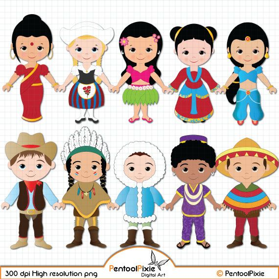 Children of the World clipart PART 1, Children around the World.
