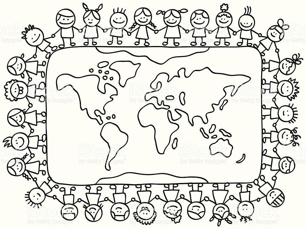 Children Around The World Coloring Pages at GetDrawings.com.