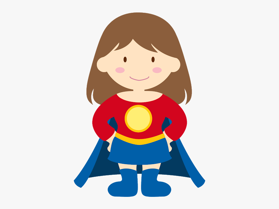 Kid Super Heroes Clip Art.
