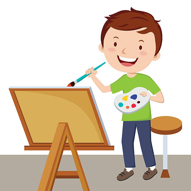 Artist clipart child artist.