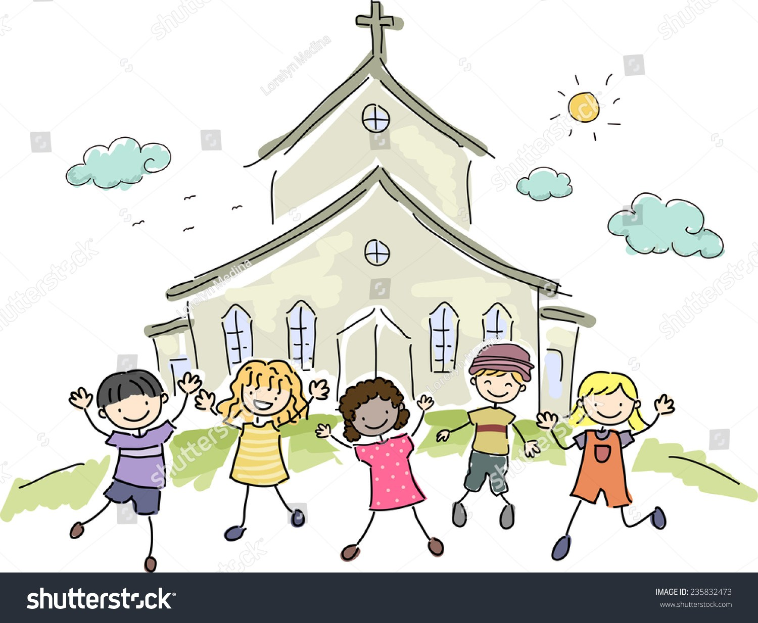 Children going to church clipart 8 » Clipart Portal.